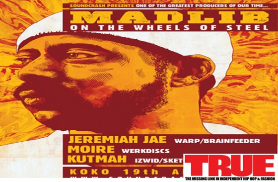 Soundcrash Presents – Madlib, Jeremiah Jae, Moire and Kutmah at KOKO.Early Birds tickets on sale now!
